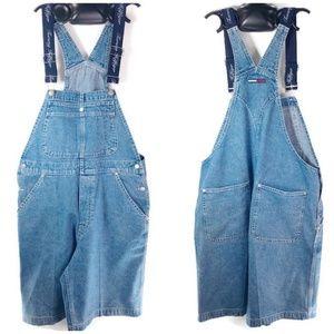 Tommy Hilfiger Vintage Womens Shorts Bib Overall L